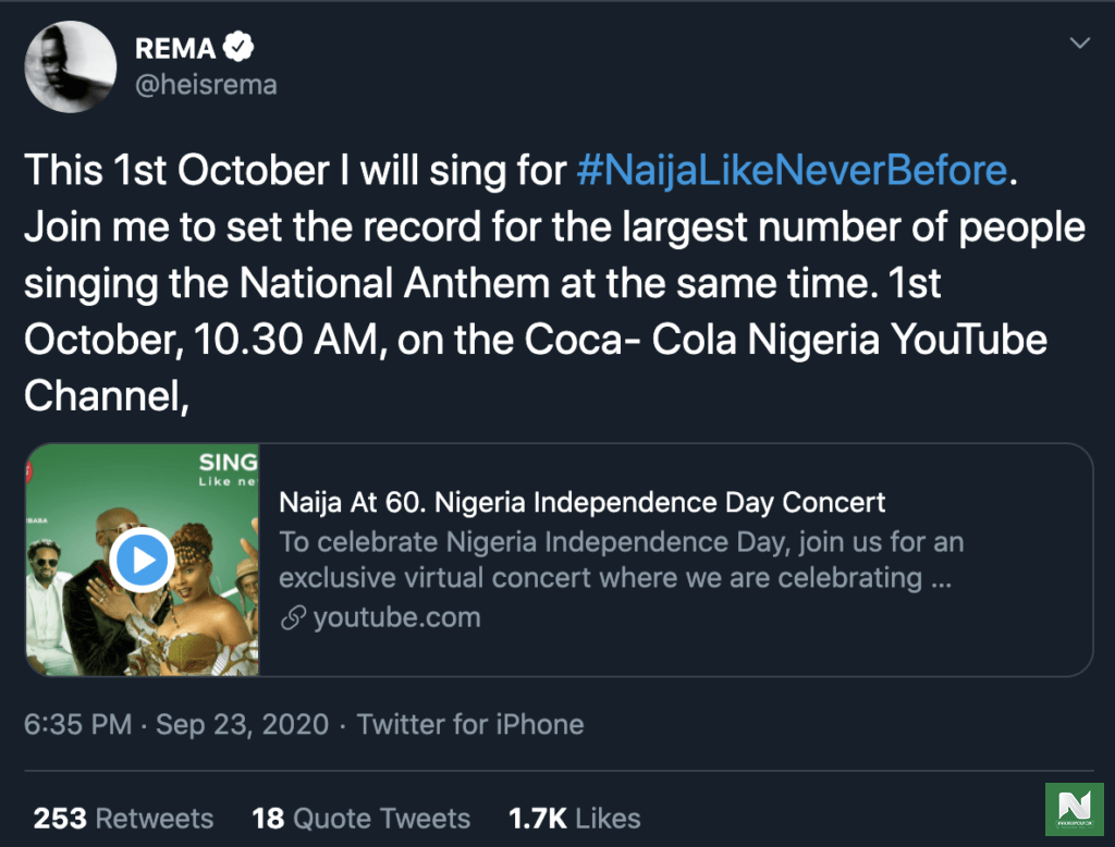 Rema Independence