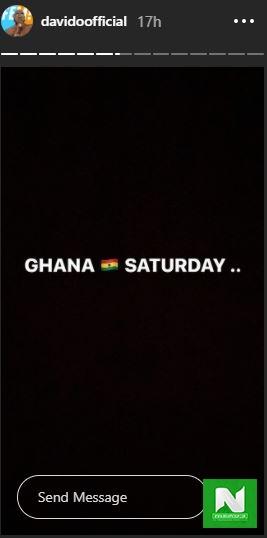 davido ghana trip