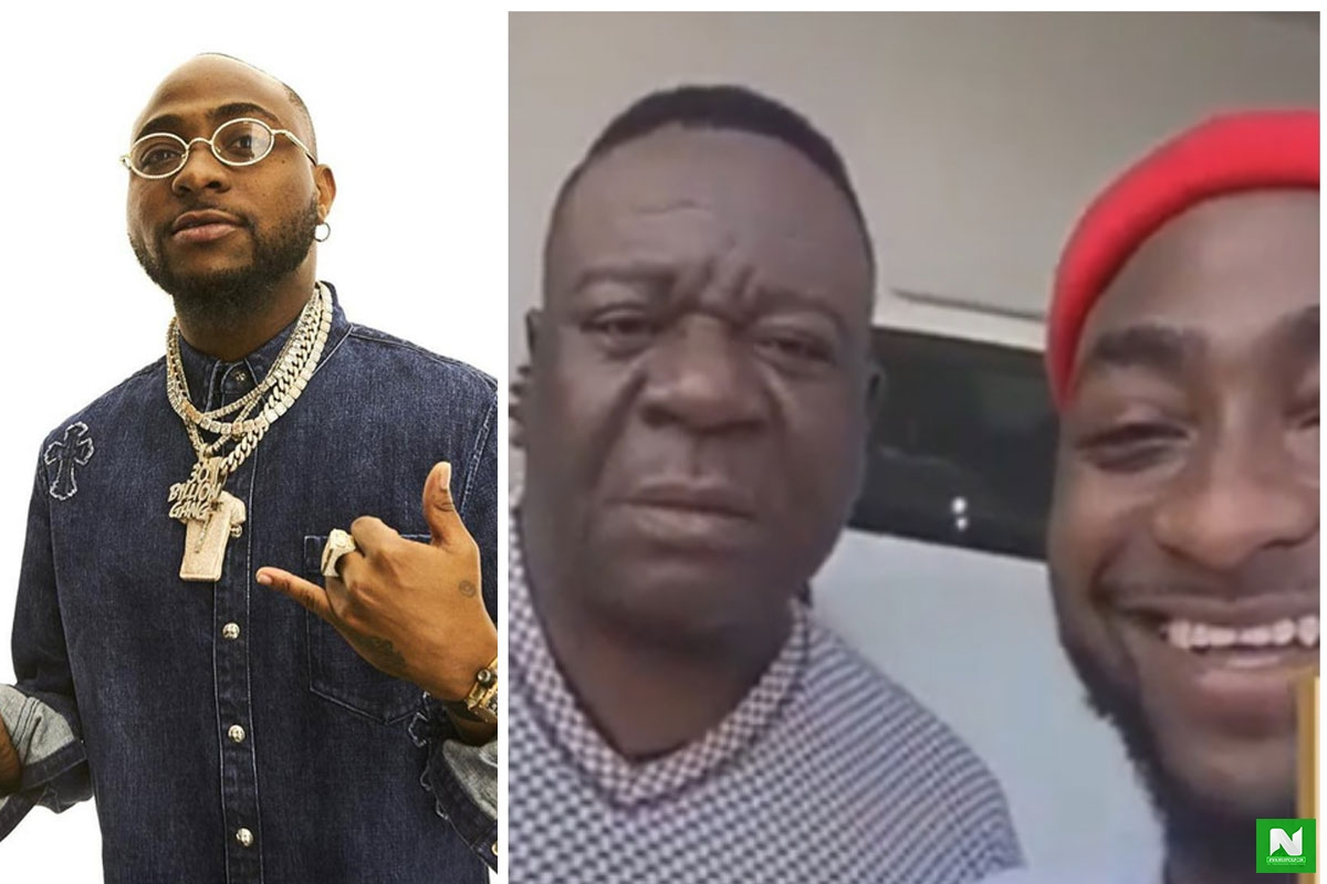 """Don't Buy The Whole Of Lagos"" - Mr Ibu Begs Davido In Public (VIDEO)"