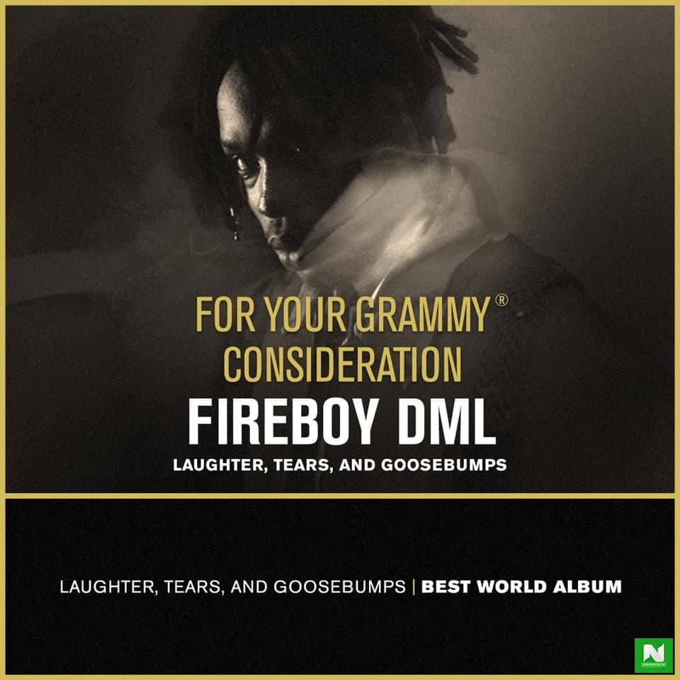 Fireboy's Debut Album Appears In Nominations For The Grammy