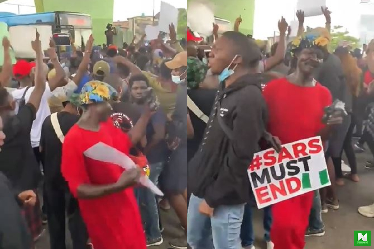 The Moment #SARSMUSTEND Protestors Turned Lekki Toll Gate Into A Beach Jam (Video)