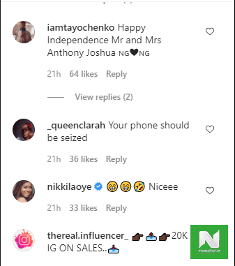 fans reacts to photoshop traditional wedding of dj cuppy and anthony joshua