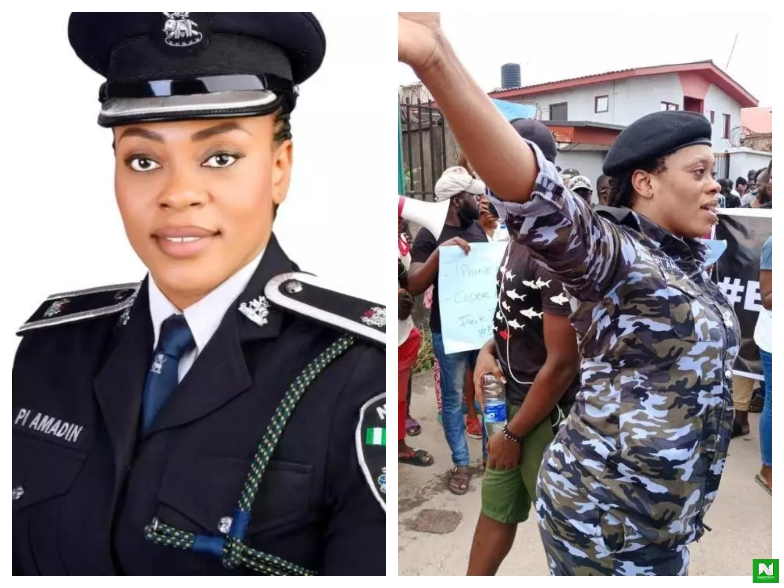 Check Out Beautiful Photos Of The DPO Who Provided Security And Moral Support For Protesters