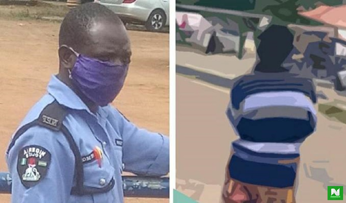 EndSARS: Netizens Rain Curses On Policeman That Killed Jimoh Isiaq After Photos Of Him Surfaced Online
