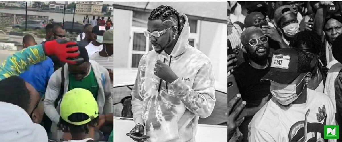 Kizz Daniel Finally Joins The EndSARS Protest After Allegedly Jumping From One Battle To Another – Video