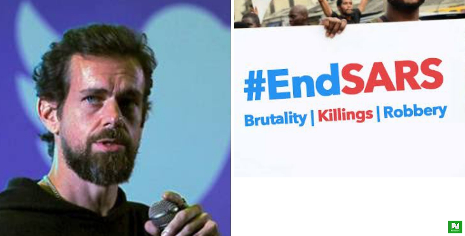 Twitter CEO Jack Dorsey Joins #EndSARS And #EndSWAT Movement