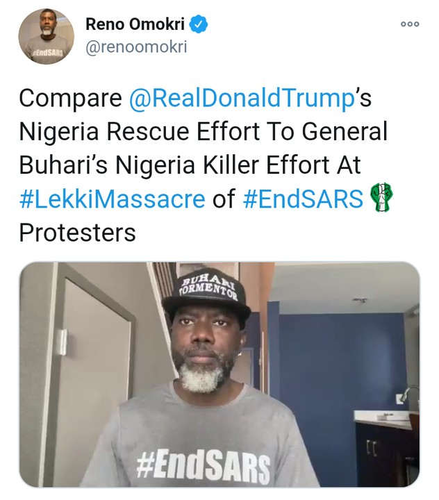 Reno Omokri Reacts As Trump Sends Soldiers
