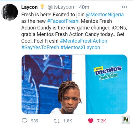 Bbnaija Laycon Becomes Mentos First African Ambassador