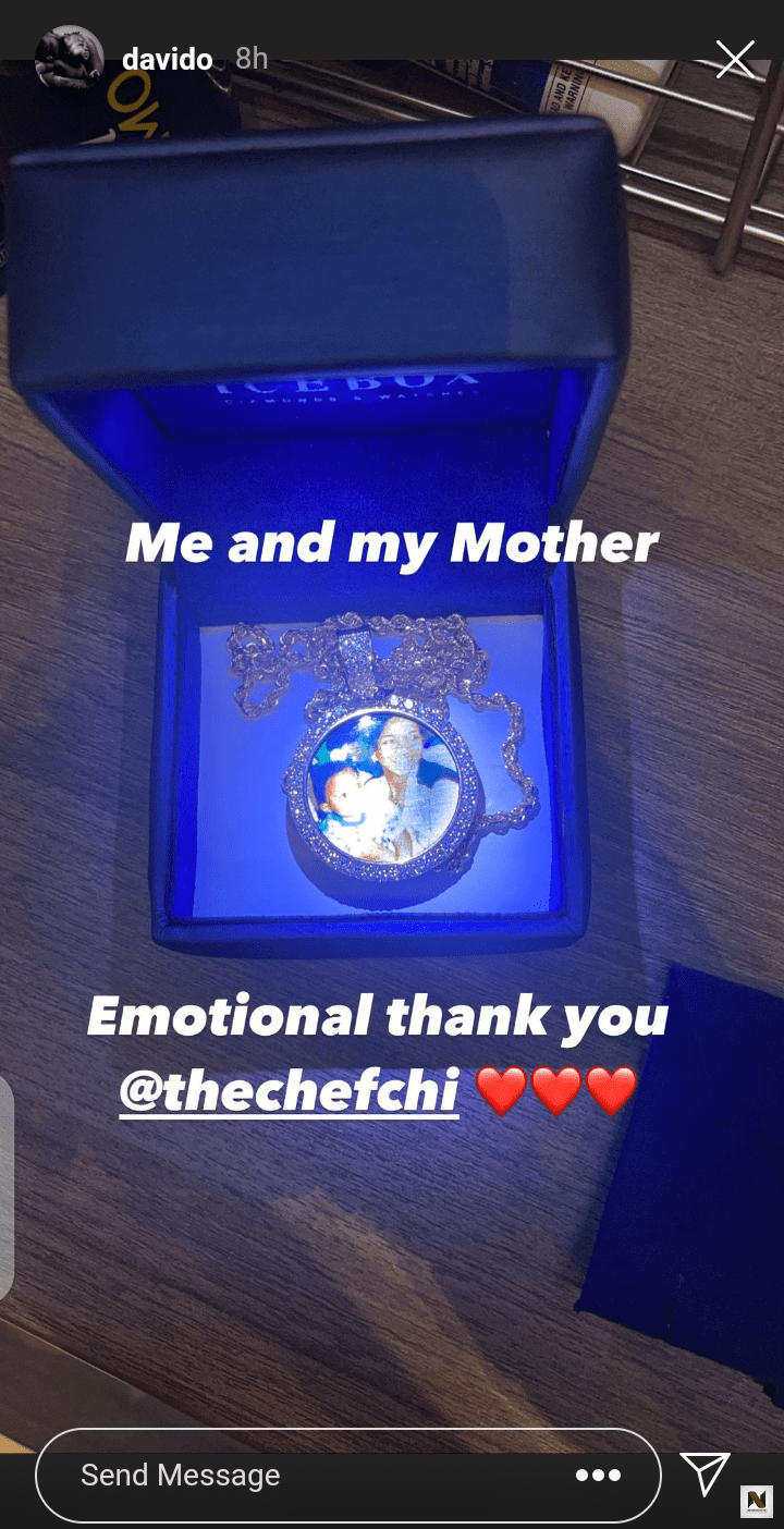 Davido Show Off Diamond Chain Chioma Gifted Him On His Birthday