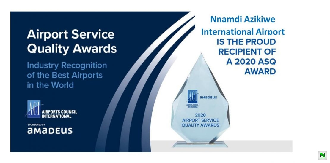 NNAMDI AZIKIWE INTERNATIONAL AIRPORT ABUJA NAMED BEST AIRPORT IN AFRICA